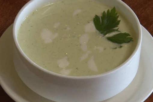 Chilled Zucchini Yogurt Soup