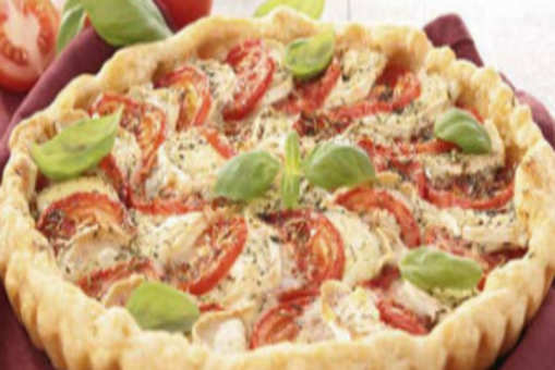 Tomato Thyme and Cheddar Tart