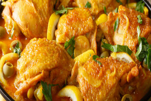 Saffron Chicken with Lemon and Parsley