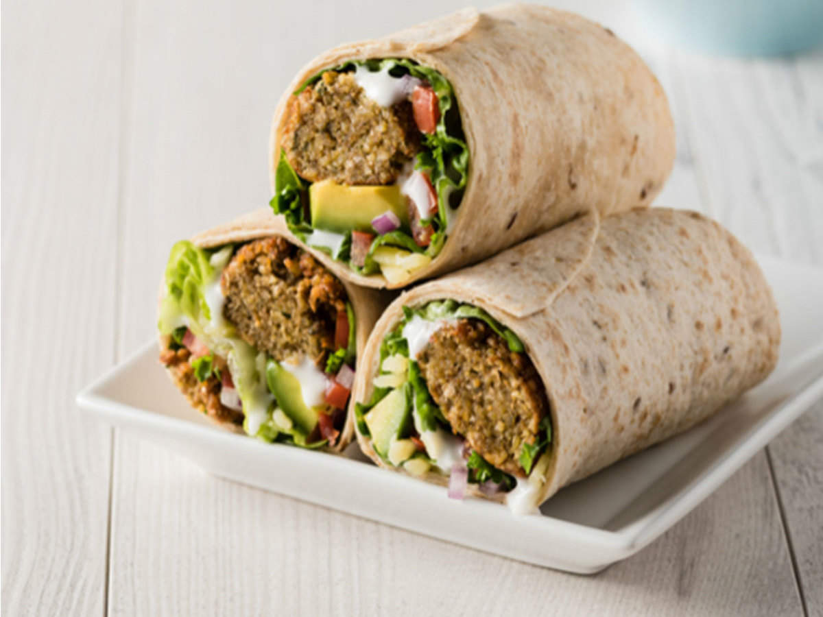 Falafel Wrap Recipe How To Make Falafel Wrap Recipe At Home Homemade Falafel Wrap Recipe Times Food