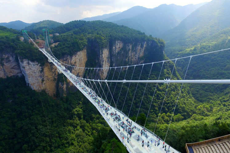 zhangjiajie grand canyon bridge - Zhangjiajie Glass Bridge