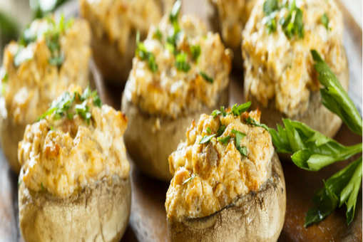 Salmon and Cream Stuffed Mushrooms