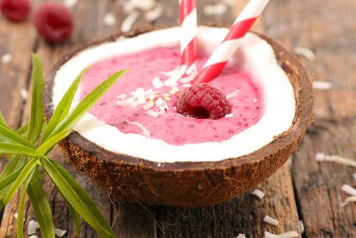 Raspberry Coconut Smoothie