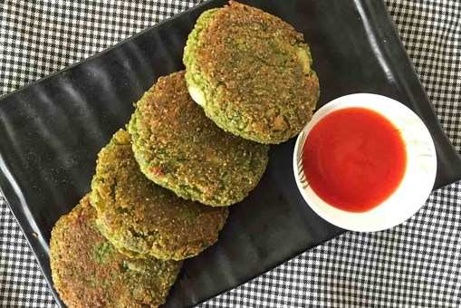 Green Spinach and Oats Cutlet