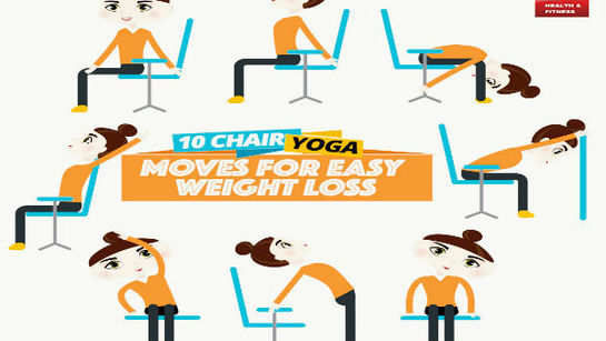 10 chair yoga moves for easy weight loss