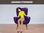 Leaning forward