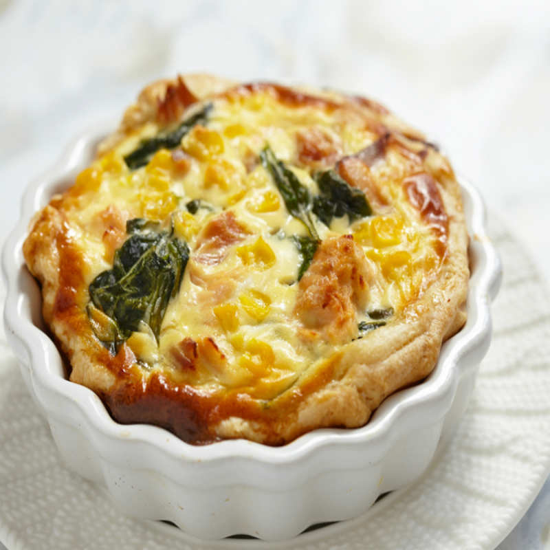 Spinach And Corn Quiche Recipe How To Make Spinach And Corn Quiche Recipe Homemade Spinach And Corn Quiche Recipe