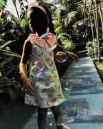 Twinkle Khanna's daughter Nitara plays with bubble