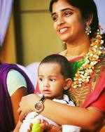 Syamala with son Ishaan
