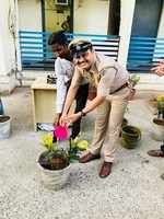 Navrangpura cops celebrate sanitation worker's birthday on World Environment Day