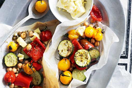 Grilled Vegetables Parcels
