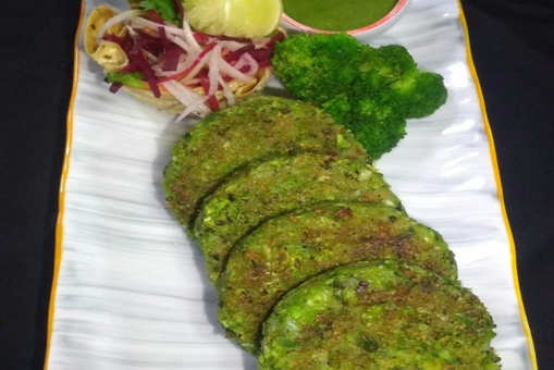Broccoli Aur Palak Mutter Ki Shammi