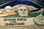 Sudarsan Pattnaik pays tribute to Dhyan Chand
