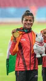 Tribal athlete Sarita Gayakwad is the first woman from Gujarat to win gold