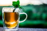 Mint or ginger tea