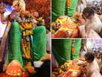 Amitabh Bachchan visits Lalbaugcha Raja pandal in Mumbai
