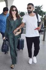 Virat Kohli, Anushka Sharma spotted at Mumbai airport