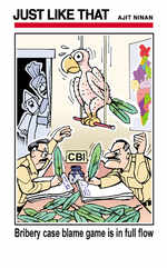 Bribery case blame game