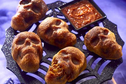 Stuffed Pizza Skull