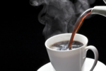 ​Piping hot coffee