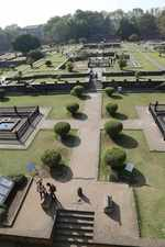 Manicured gardens of Shaniwarwada