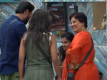 Contestants reunite with their family members
