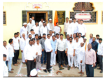 Friends and Relatives of Sri. Rajendra Jasud attending the ceremony for laying down the foundation stone for the construction of common seating hall for the devotees opposite Vitthal Rukhmini Mandir, Maujey Village, Shirur Taluka, Pune.