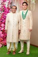 Mukesh Ambani and Akash Ambani