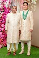 Mukesh Ambani and Akash Ambani