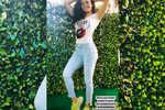 Amruta Khanvilkar looks resplendent as she strikes a pose after workout