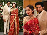Enga Veetu Mapillai fame Arya and Sayyeshaa's grand reception in Chennai; see pics