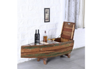 Boat-shaped solid wood bar cabinet
