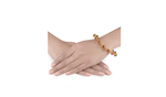 ​Gold plated pink glass Mayura Bangle
