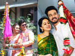Gudi Padwa: Amruta Khanvilkar, Swwapnil Joshi and other TV actors celebrate the festival with a traditional touch