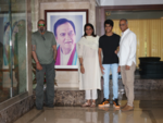 Priya Dutt with her family