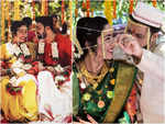 Pictures from the wedding of actors Sakhi Gokhale and Suvrat Joshi you can't afford to miss