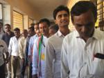 Congress candidate Paresh Dhanani awaits his turn