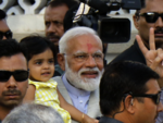 Narendra Modi in Ahmedabad to vote