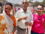 Visually challenged couple votes in Mumbai