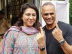 Priya Dutt, Owen Roncon after voting