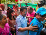 Arvind Kejriwal votes with family