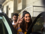 Taapsee greets the papz with a smile!