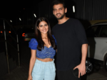 Pranutan Bahl & Zaheer Iqbal were snapped at the special screening of Nakaash