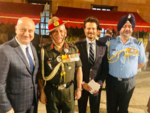 Anupam Kher, Anil Kapoor pose with Chief of Army Staff and Air Chief Marshal