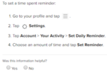 How to set a reminder?
