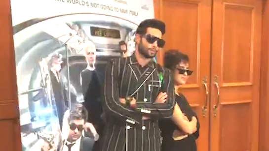 Siddhant Chaturvedi and Sanaya Malhotra pose for shutterbugs