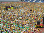 Yoga day at Kanteerava stadium