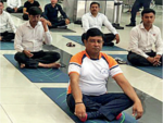 Yoga Day at the airport