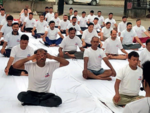 Income Tax officers celebrate Yoga day