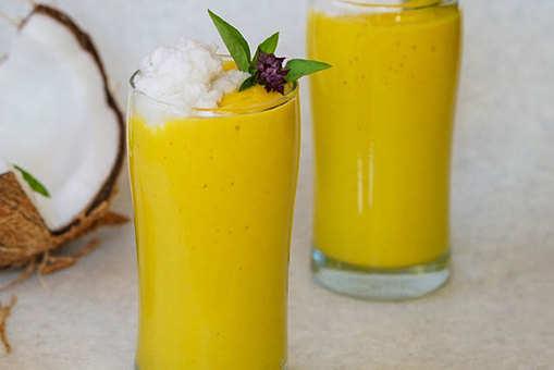 Mango Basil Colada